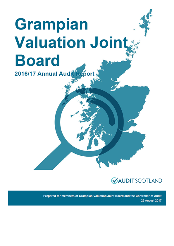 Report cover: Grampian Valuation Joint Board annual audit report 2016/17