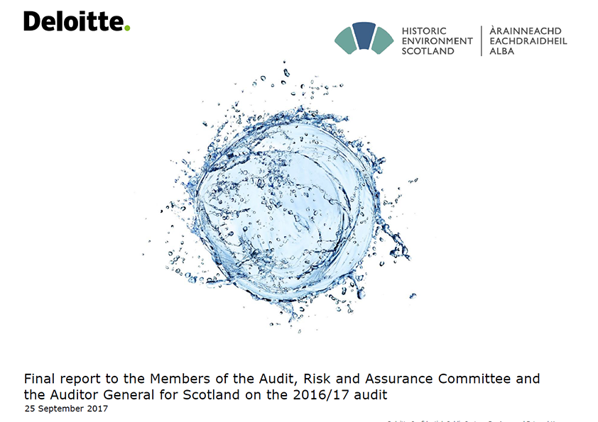 Report cover: Historic Environment Scotland annual audit report 2016/17