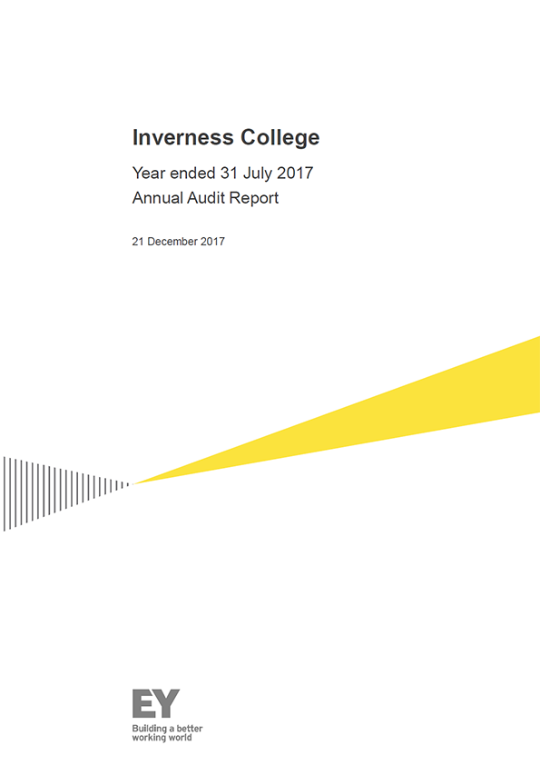 Report cover: Inverness College annual audit report 2016/17