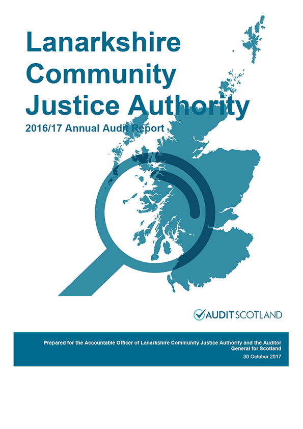Report cover: Lanarkshire Community Justice Authority annual audit report 2016/17