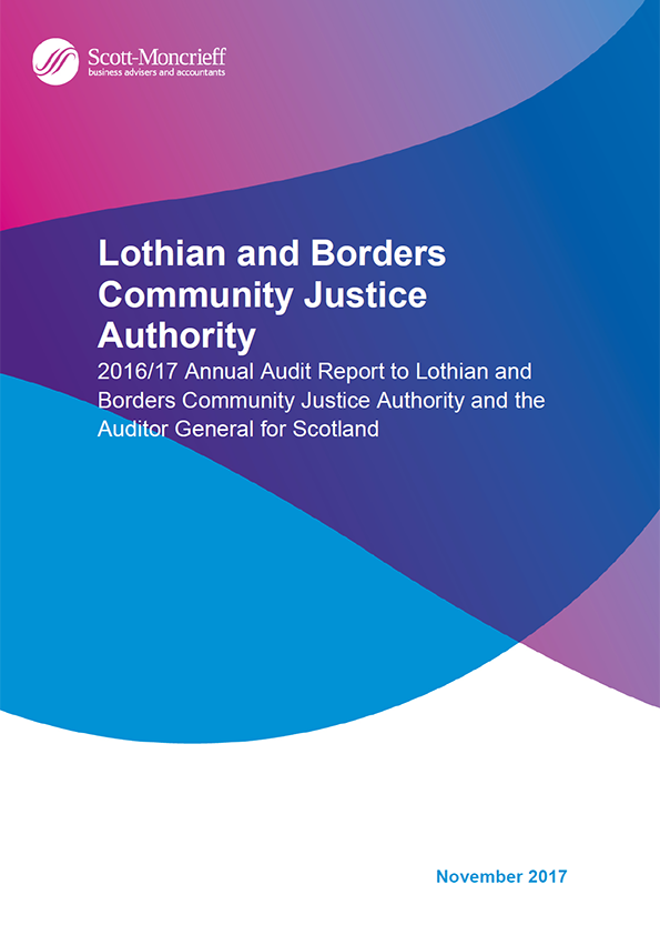 Report cover: Lothian and Borders Community Justice Authority annual audit report 2016/17
