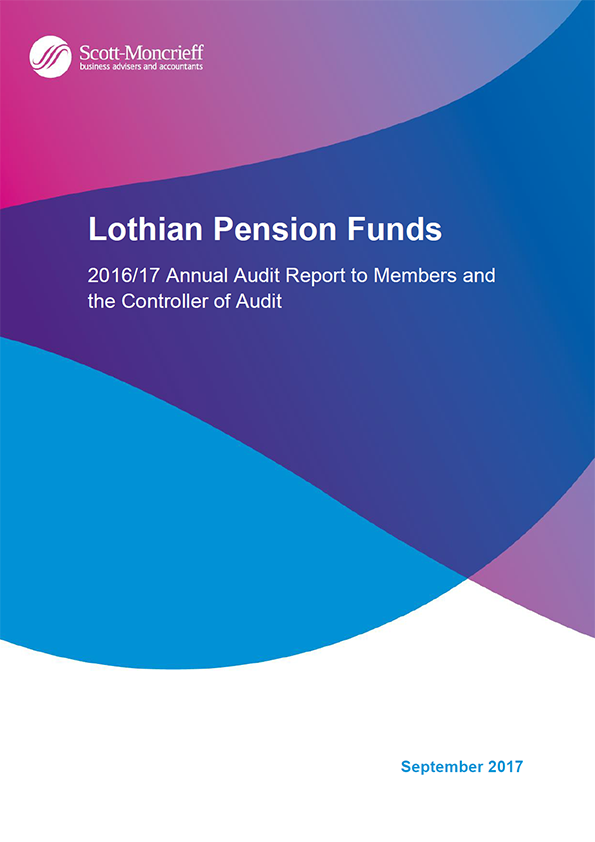 Report cover: Lothian Pension Funds annual audit report 2016/17