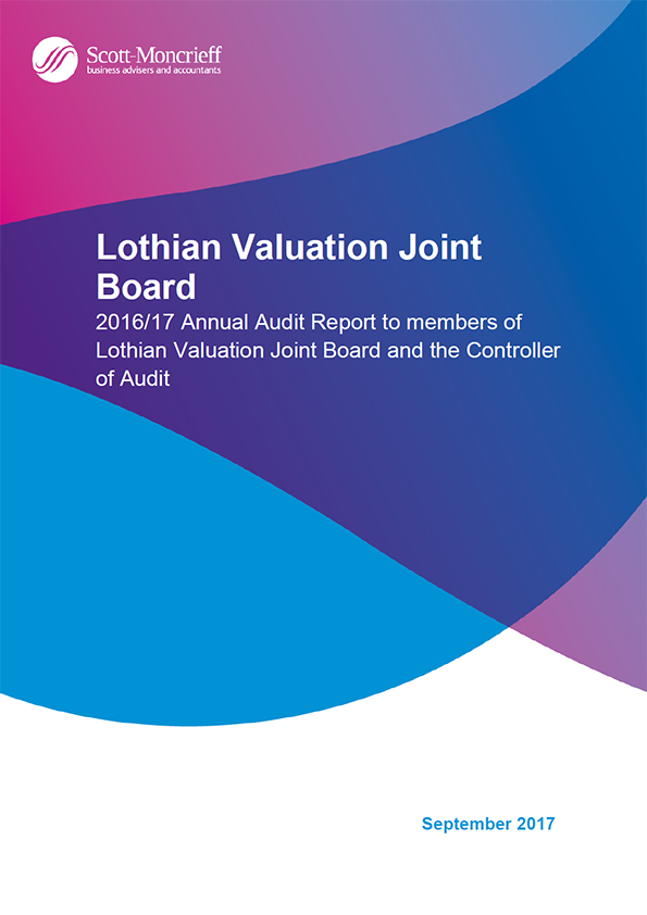 Report cover: Lothian Valuation Joint Board annual audit report 2016/17
