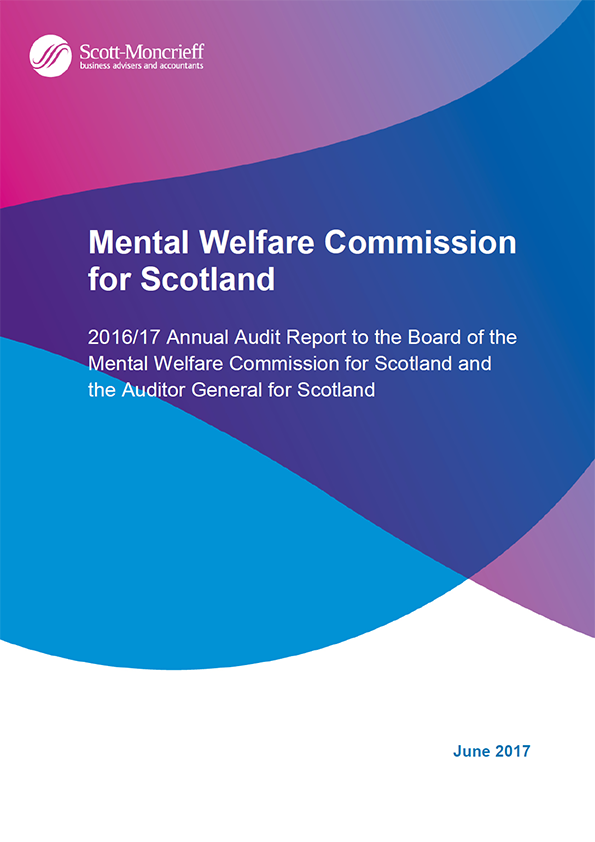 Report cover: Mental Welfare Commission for Scotland annual audit report 2016/17