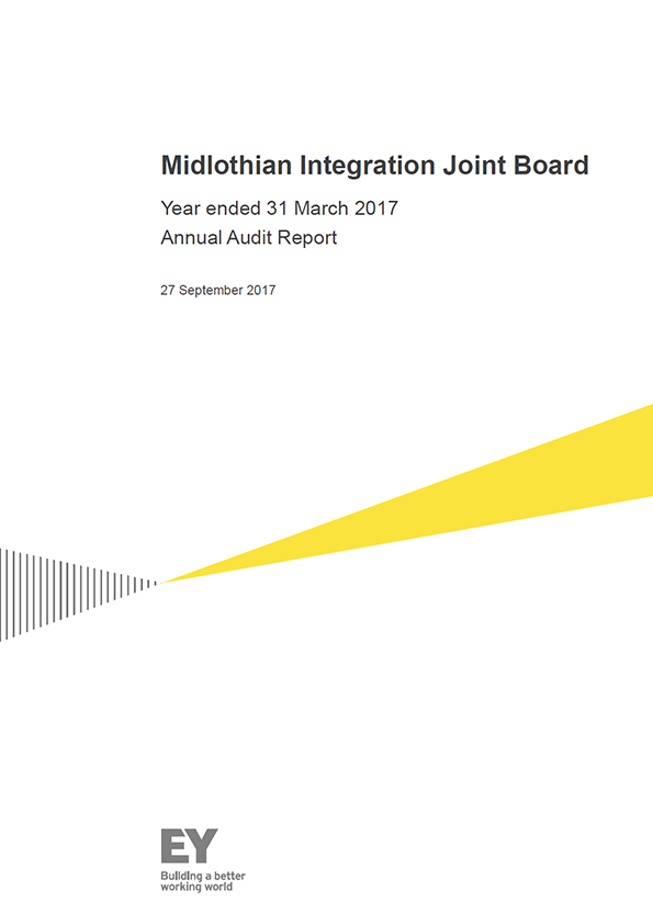 Report cover: Midlothian Integration Joint Board annual audit report 2016/17