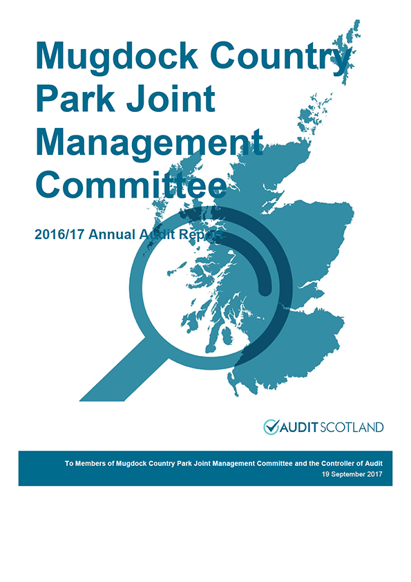 Report cover: Mugdock Country Park Joint Management Committee annual audit report 2016/17