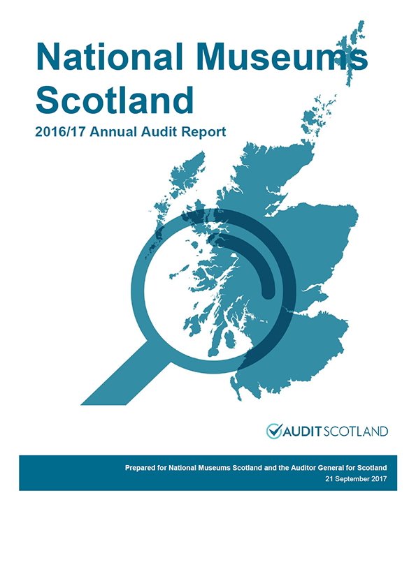 Report cover: National Museums Scotland annual audit report 2016/17