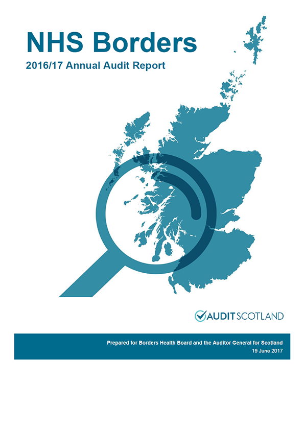 Report cover: NHS Borders annual audit report 2016/17
