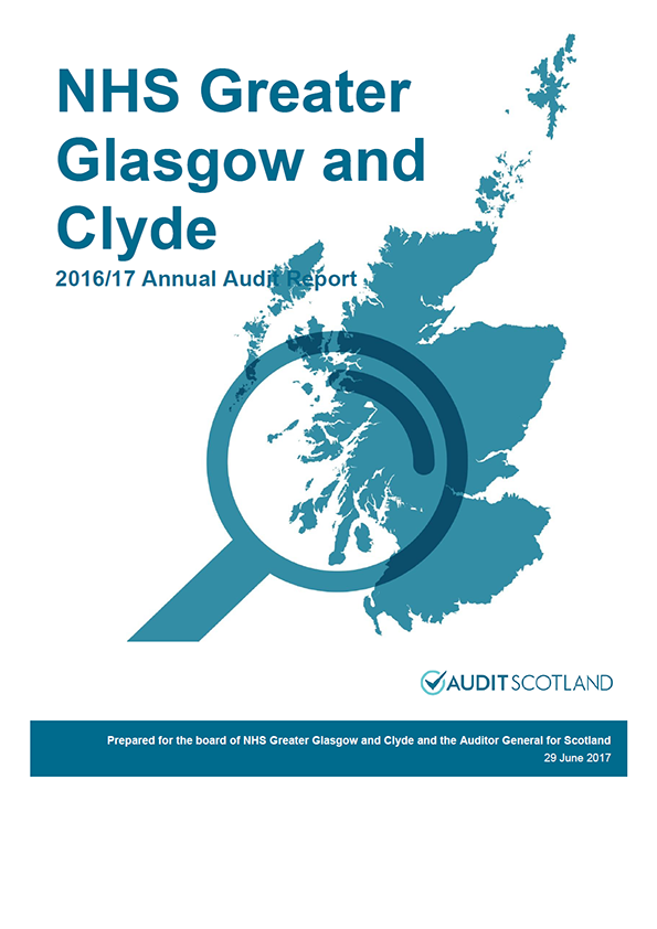 Report cover: NHS Greater Glasgow and Clyde annual audit report 2016/17