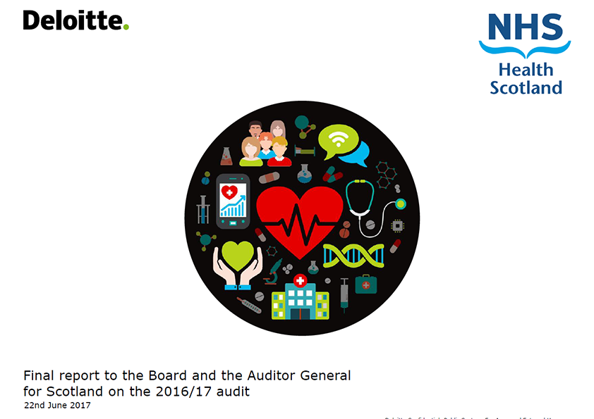 Report cover: NHS Health Scotland annual audit report 2016/17