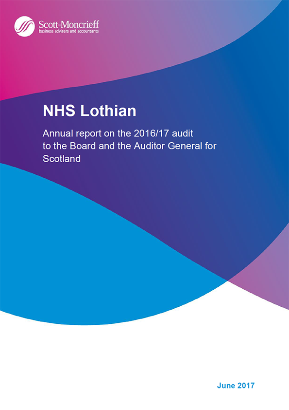 Report cover: NHS Lothian annual audit report 2016/17