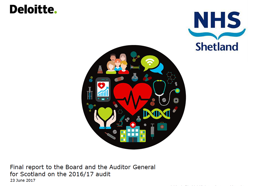 Report cover: NHS Shetland annual audit report 2016/17