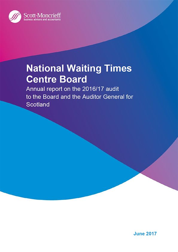 Report cover: National Waiting Times Centre Board annual audit report 2016/17