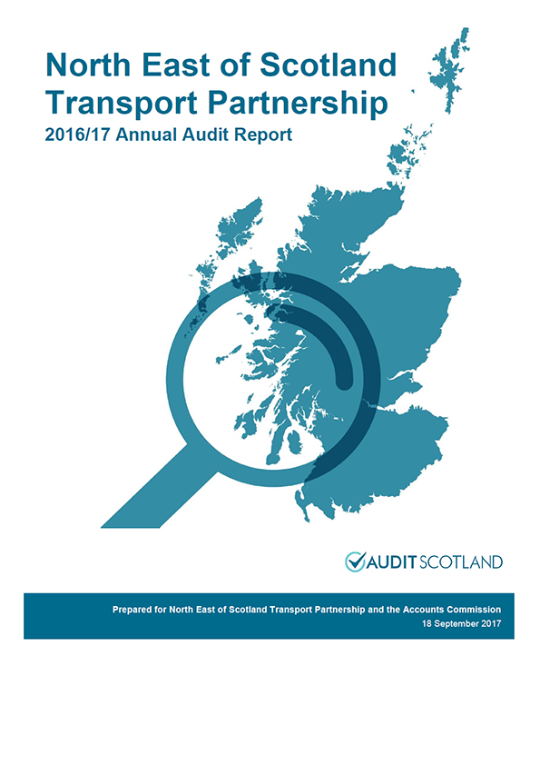 Report cover: North East of Scotland Transport Partnership annual audit report 2016/17