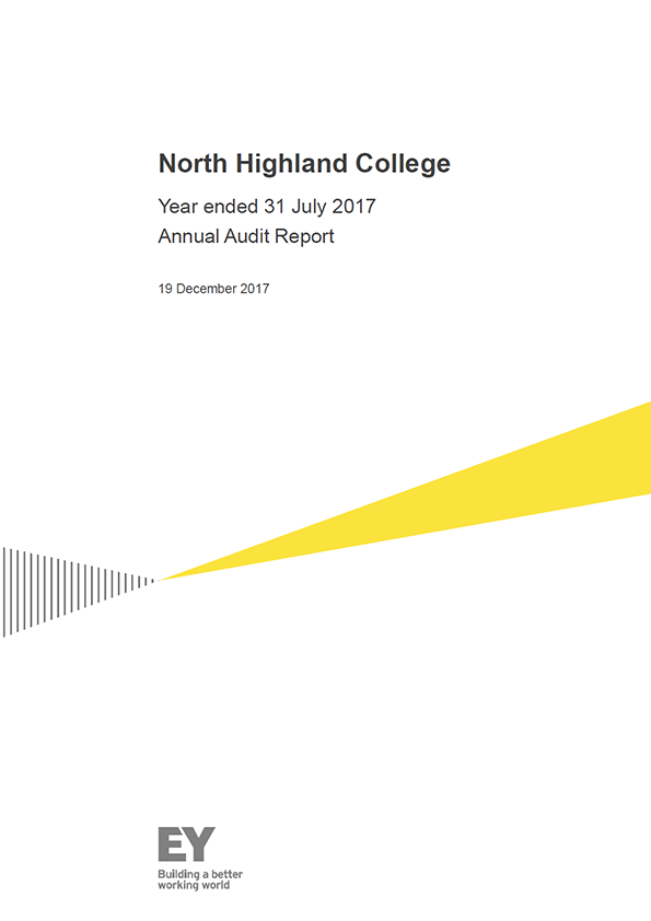 Report cover: North Highland College annual audit report 2016/17