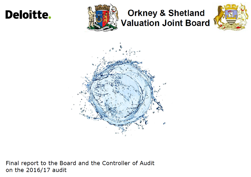 Report cover: Orkney and Shetland Valuation Joint Board annual audit report 2016/17