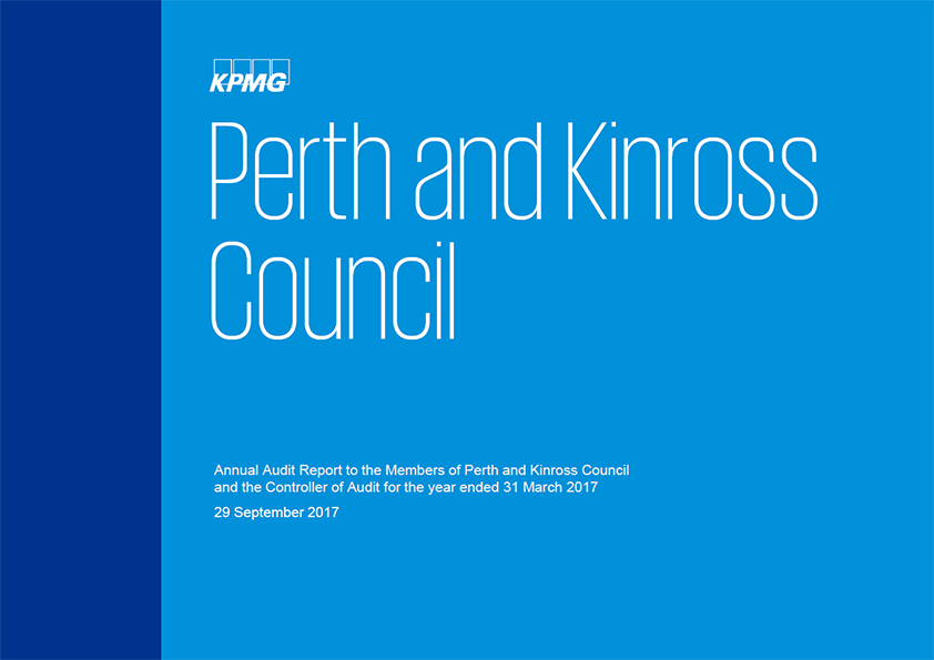 Report cover: Perth and Kinross Council annual audit report 2016/17