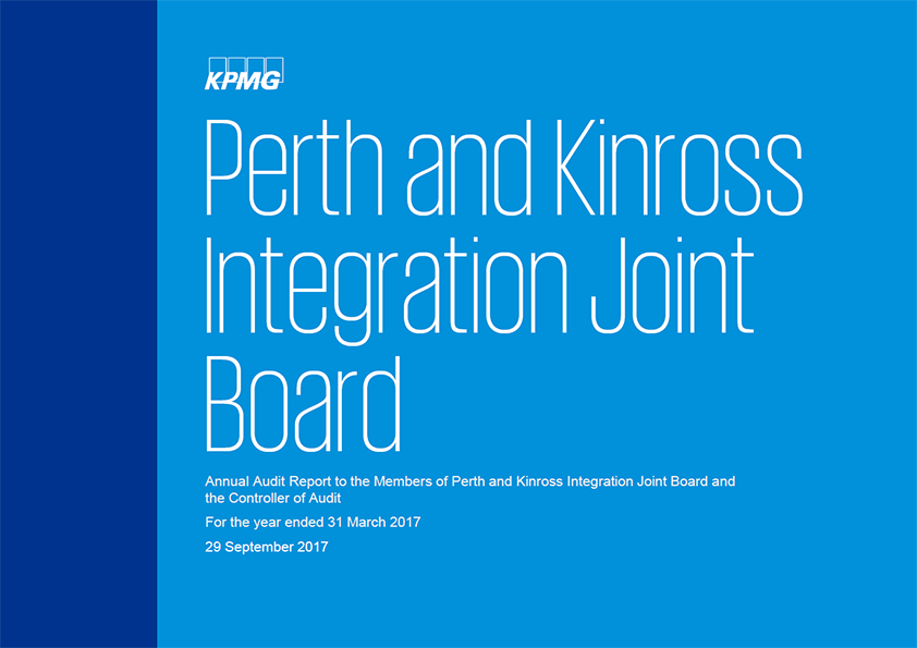 Report cover: Perth and Kinross Integration Joint Board annual audit report 2016/17