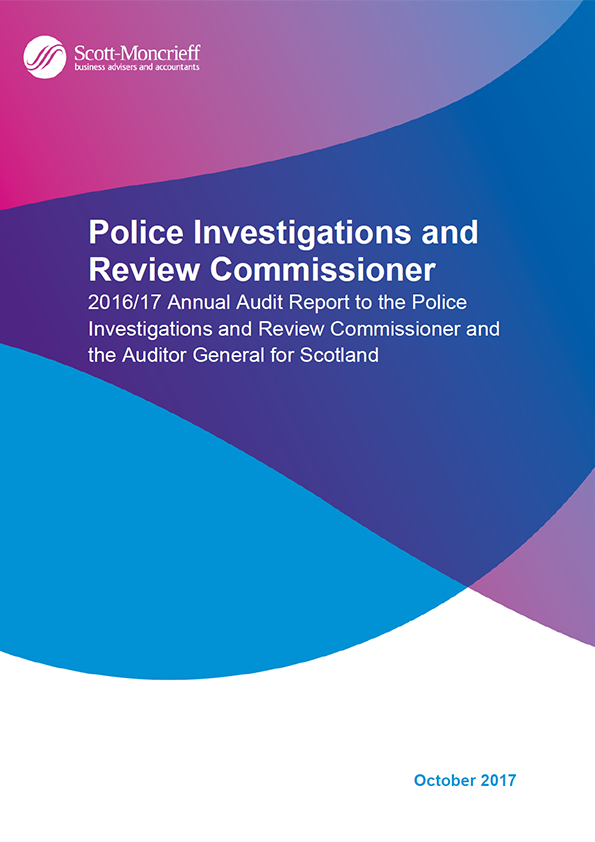 Report cover: Police Investigations and Review Commissioner annual audit report 2016/17