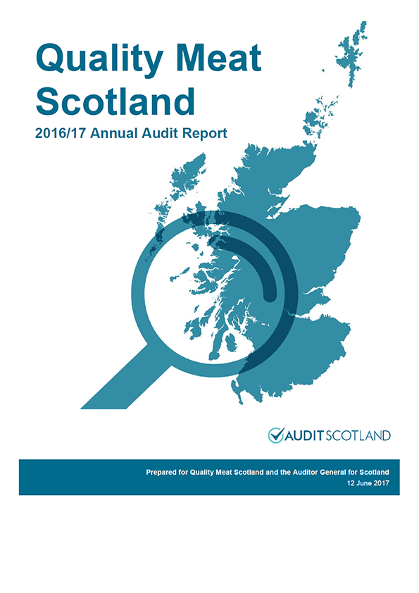Report cover: Quality Meat Scotland annual audit report 2016/17