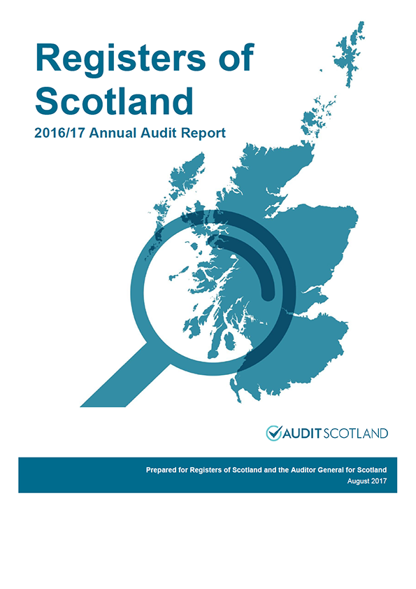 Report cover: Registers of Scotland annual audit report 2016/17
