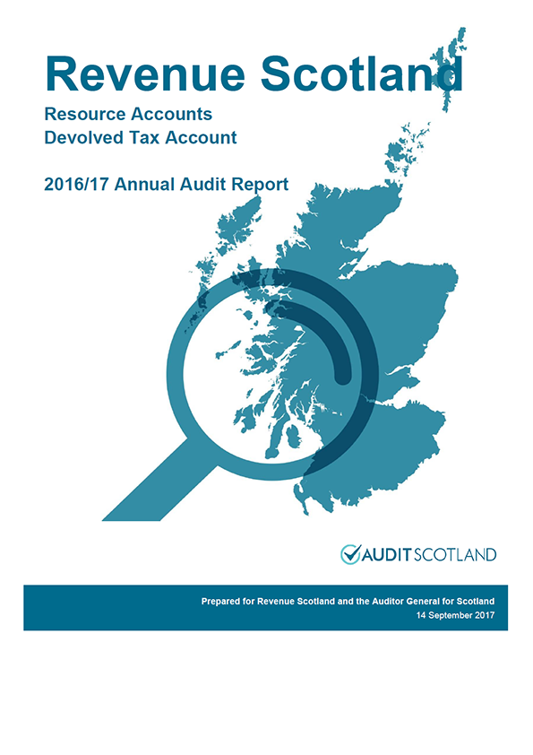 Report cover: Revenue Scotland annual audit report 2016/17