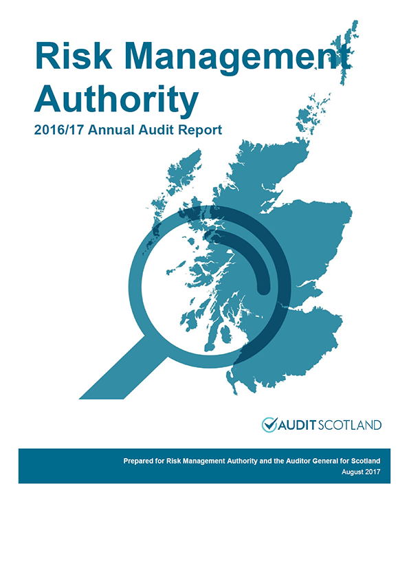 Report cover: Risk Management Authority annual audit report 2016/17