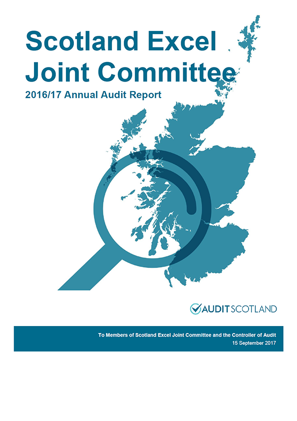 Report cover: Scotland Excel Joint Committee annual audit report 2016/17