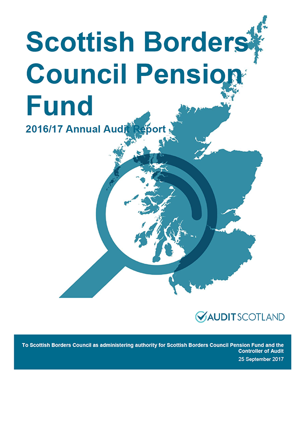Report cover: Scottish Borders Council Pension Fund annual audit report 2016/17