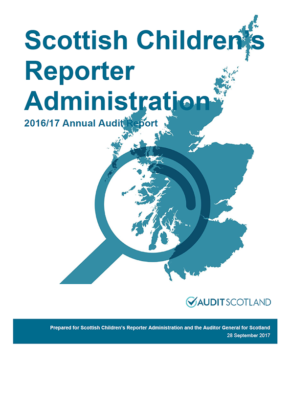 Report cover: Scottish Children's Reporter Administration annual audit report 2016/17
