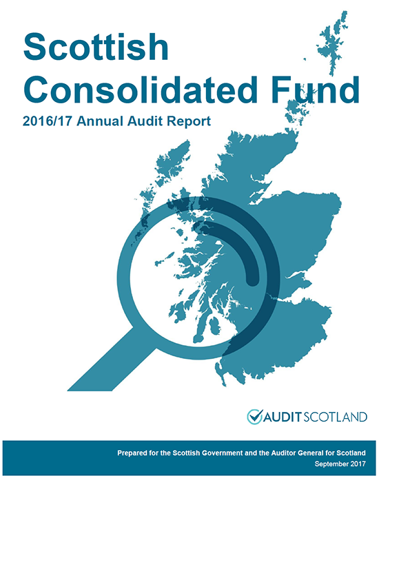 Report cover: Scottish Government: Scottish Consolidated Fund annual audit report 2016/17