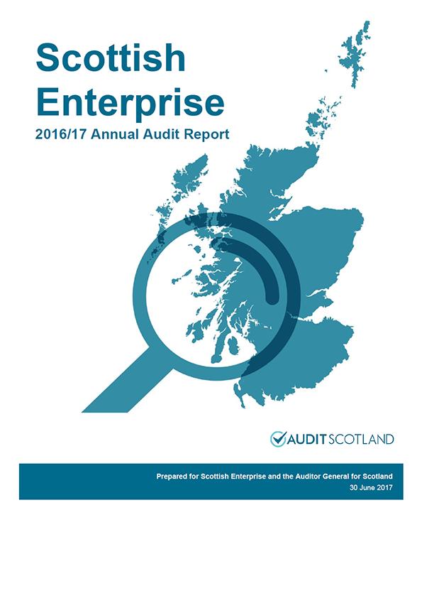 Report cover: Scottish Enterprise annual audit report 2016/17