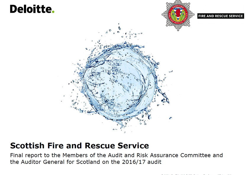 Report cover: Scottish Fire and Rescue Service annual audit report 2016/17