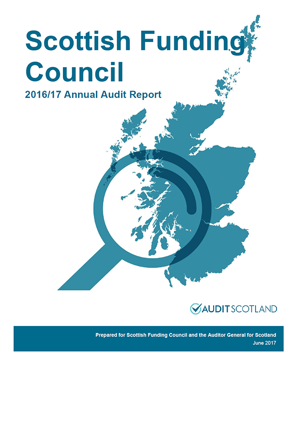 Report cover: Scottish Funding Council annual audit report 2016/17