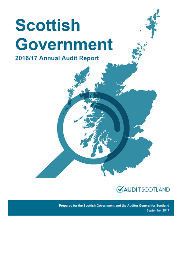 Report cover: Scottish Government annual audit report 2016/17