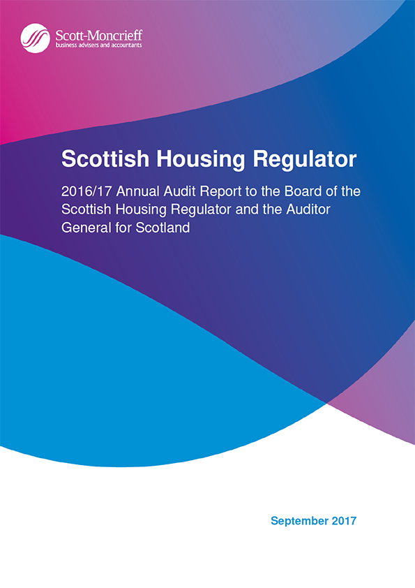 Report cover: Scottish Housing Regulator annual audit report 2016/17