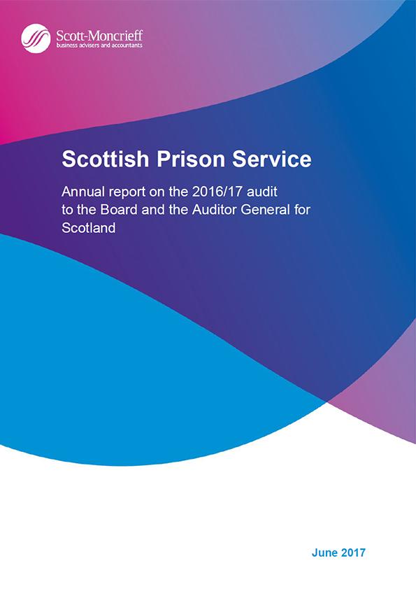 Report cover: Scottish Prison Service annual audit report 2016/17