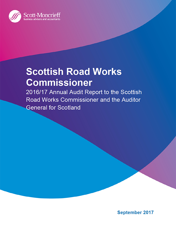 Report cover: Scottish Road Works Commissioner annual audit report 2016/17