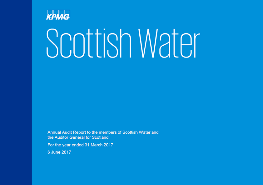 Report cover: Scottish Water annual audit report 2016/17