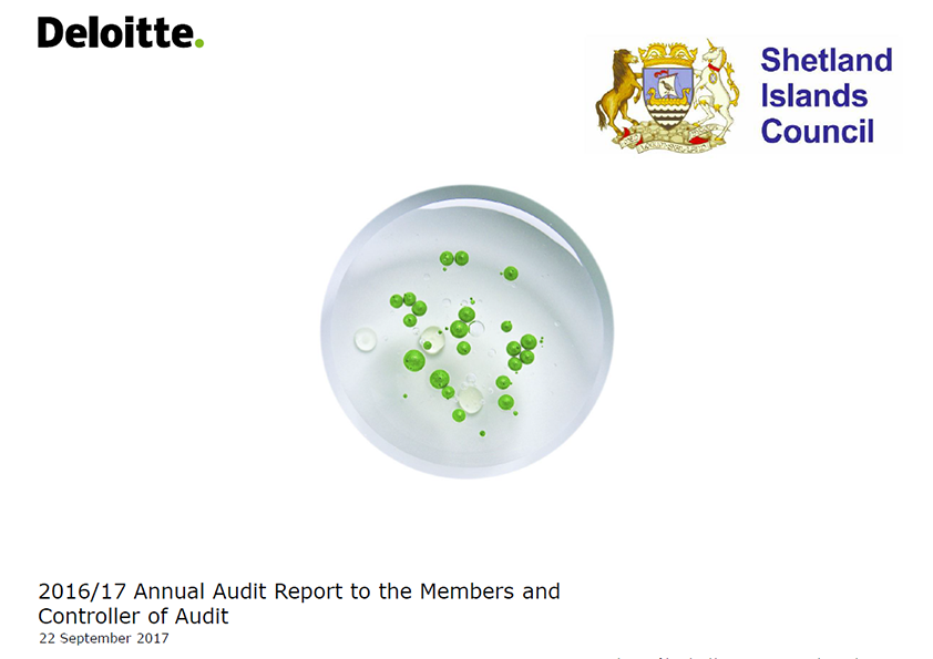 Report cover: Shetland Islands Council Pension Fund annual audit report 2016/17
