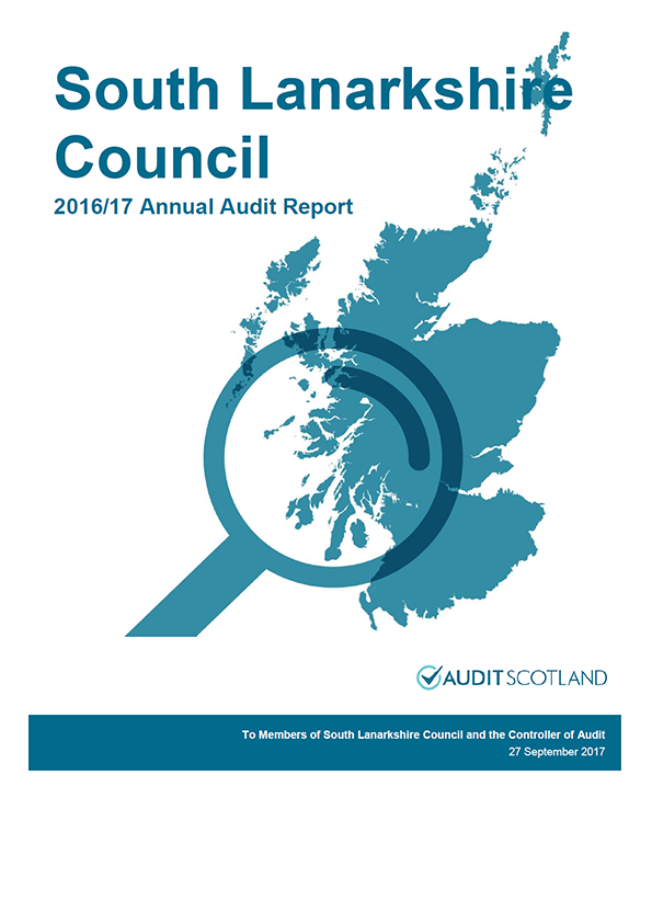 Report cover: South Lanarkshire Council annual audit report 2016/17