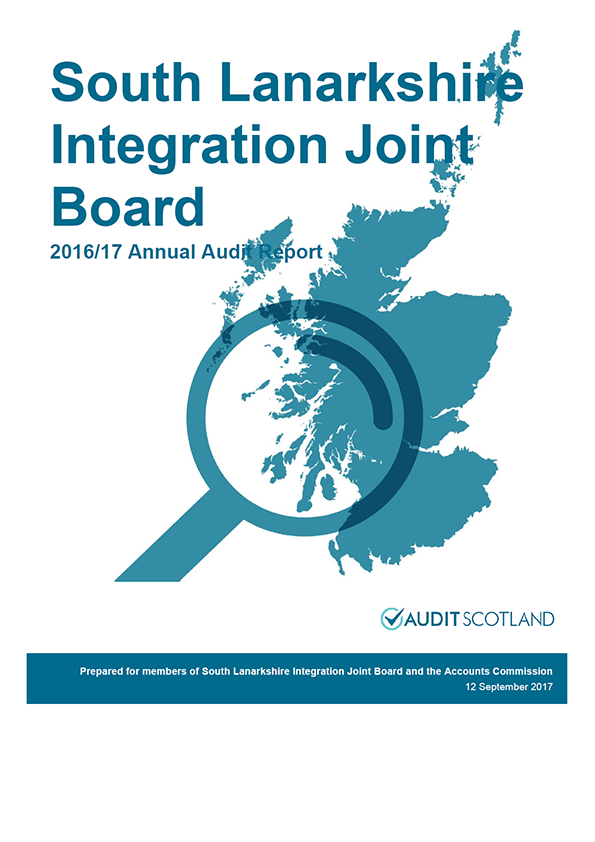 Report cover: South Lanarkshire Integration Joint Board annual audit report 2016/17