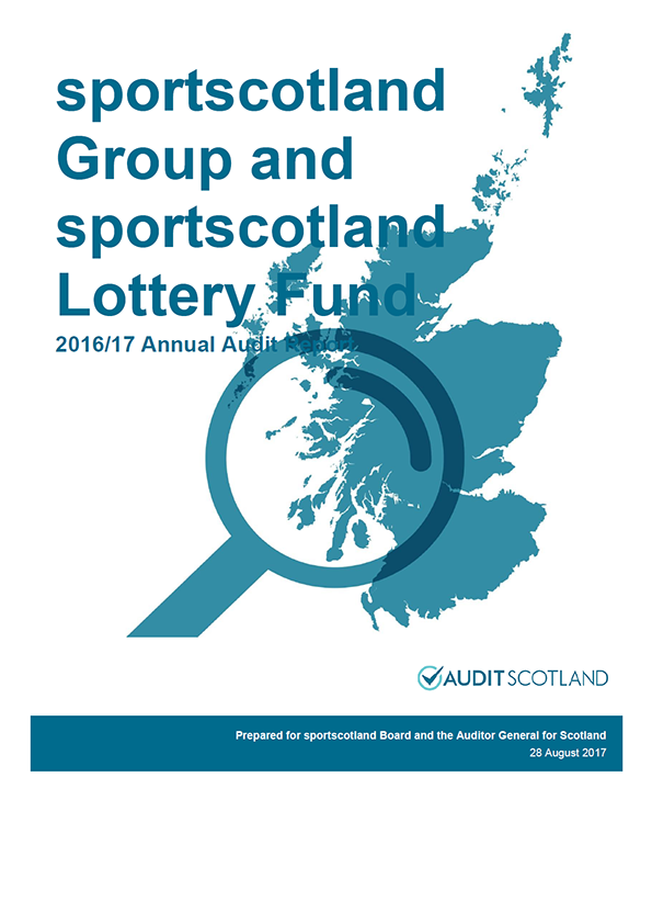 Report cover: Sportscotland Group annual audit report 2016/17