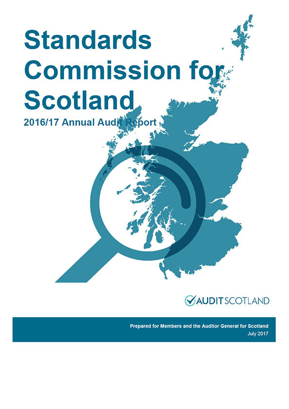 Report cover: Standards Commission for Scotland annual audit report 2016/17