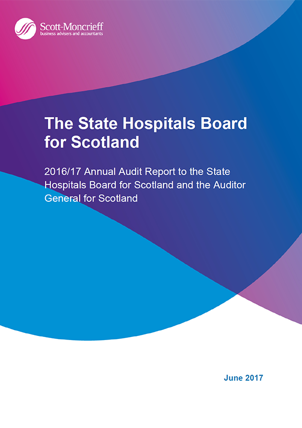 Report cover: The State Hospitals Board for Scotland annual audit report 2016/17