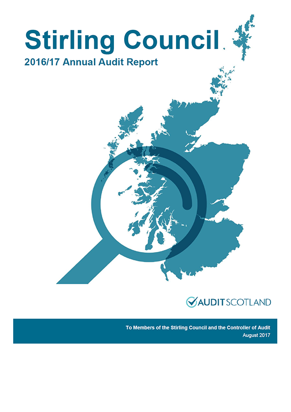 Report cover: Stirling Council annual audit report 2016/17