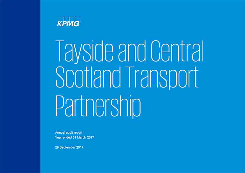 Report cover: Tayside and Central Scotland Transport Partnership  annual audit report 2016/17
