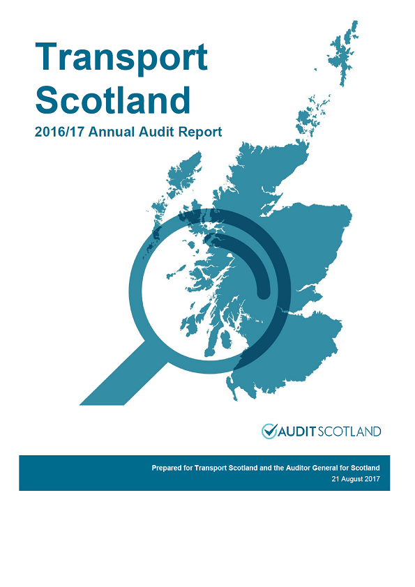 Report cover: Transport Scotland annual audit report 2016/17
