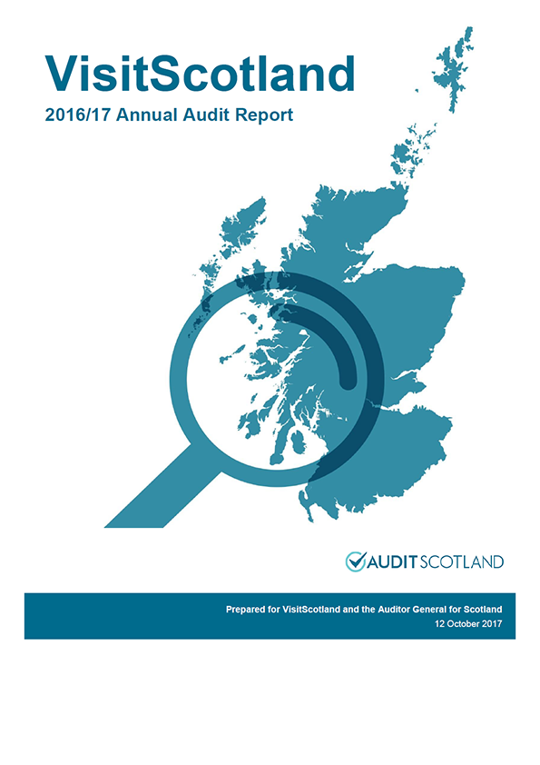 Report cover: VisitScotland annual audit report 2016/17