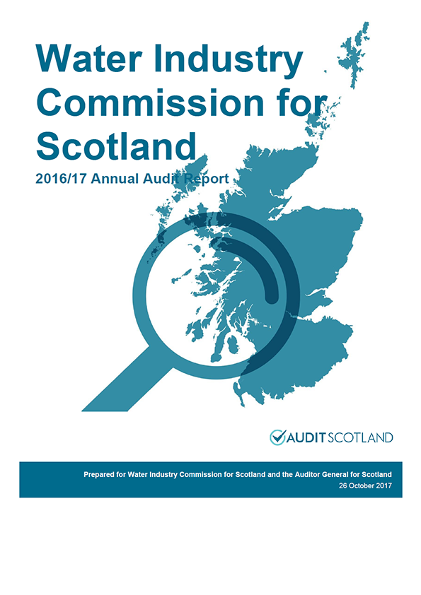 Report cover: Water Industry Commission for Scotland annual audit report 2016/17